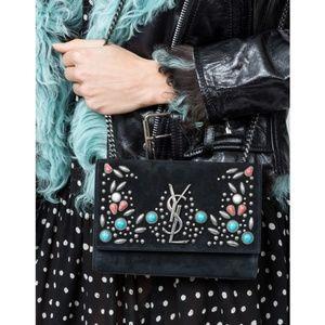 YSL Kate Monogram Stone-Studded Crossbody Bag